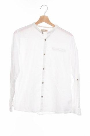 Детска риза Zara, Размер 13-14y/ 164-168 см, Цвят Бял, Памук, Цена 25,92лв.