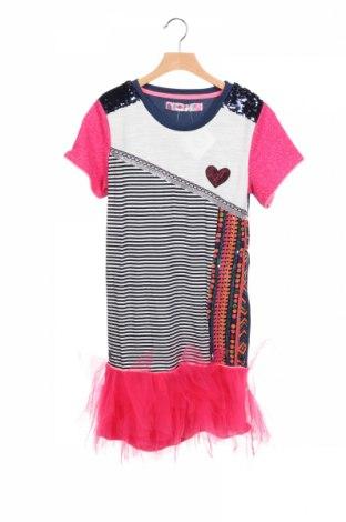 Детска рокля Desigual, Размер 12-13y/ 158-164 см, Цвят Многоцветен, 49% памук, 28% полиестер, 17% вискоза, 5% еластан, Цена 96,75лв.