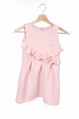 Детска рокля Guess, Размер 6-7y/ 122-128 см, Цвят Розов, Полиестер, Цена 64,08лв.