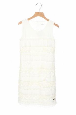 Детска рокля Guess, Размер 10-11y/ 146-152 см, Цвят Бял, 98% полиестер, 2% еластан, Цена 56,88лв.