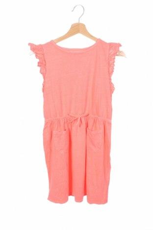 Детска рокля H&M, Размер 8-9y/ 134-140 см, Цвят Розов, Памук, Цена 30,24лв.