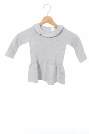 Детска рокля H&M, Размер 6-9m/ 68-74 см, Цвят Сив, Памук, Цена 35,88лв.