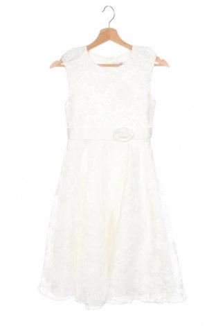 Dziecięca sukienka Happy Girls By Eisend, Rozmiar 8-9y/ 134-140 cm, Kolor Biały, 60% bawełna, 40% poliester, Cena 107,30zł