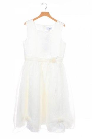 Детска рокля Happy Girls By Eisend, Размер 10-11y/ 146-152 см, Цвят Бял, Полиестер, Цена 20,80лв.