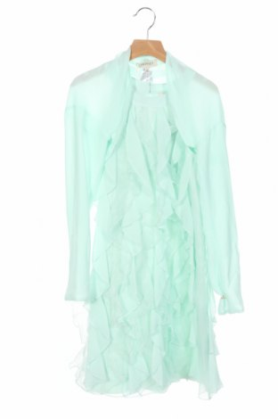 Детска рокля Twinset, Размер 12-13y/ 158-164 см, Цвят Зелен, Полиестер, Цена 121,72лв.