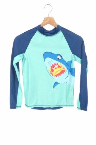 Детска спортна блуза H&M, Размер 8-9y/ 134-140 см, Цвят Син, 81% полиестер, 19% 19% еластан, Цена 19,50лв.