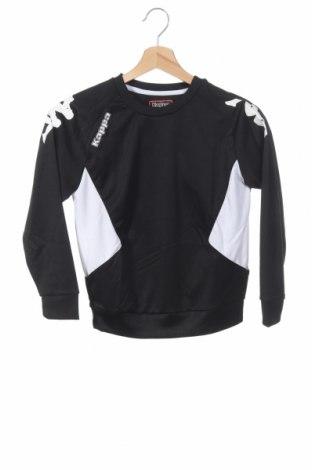 Детска спортна блуза Kappa, Размер 7-8y/ 128-134 см, Цвят Черен, Полиестер, Цена 33,00лв.