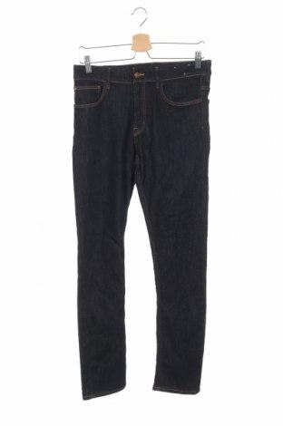 Blugi de copii H&M, Mărime 12-13y/ 158-164 cm, Culoare Albastru, 74% bumbac, 25% poliester, 1% elastan, Preț 77,99 Lei