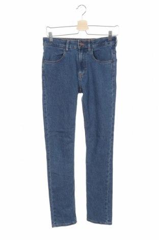 Blugi de copii H&M, Mărime 12-13y/ 158-164 cm, Culoare Albastru, 75% bumbac, 24% poliester, 1% elastan, Preț 71,49 Lei