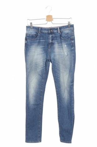 Blugi de copii Zara, Mărime 12-13y/ 158-164 cm, Culoare Albastru, 98% bumbac, 2% elastan, Preț 110,49 Lei