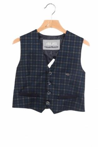 Dětská vesta  Cesare Paciotti 4US, Rozměr 5-6y/ 116-122 cm, Barva Modrá, 77% polyester, 18% viskóza, 5% elastan, Cena  447,00Kč