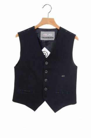 Dětská vesta  Cesare Paciotti 4US, Rozměr 9-10y/ 140-146 cm, Barva Modrá, 77% polyester, 18% viskóza, 5% elastan, Cena  877,00Kč