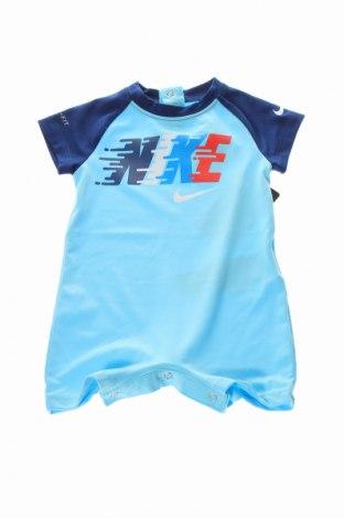 Salopetă pentru copii. Nike, Mărime 3-6m/ 62-68 cm, Culoare Albastru, 92% poliester, 8% elastan, Preț 127,11 Lei