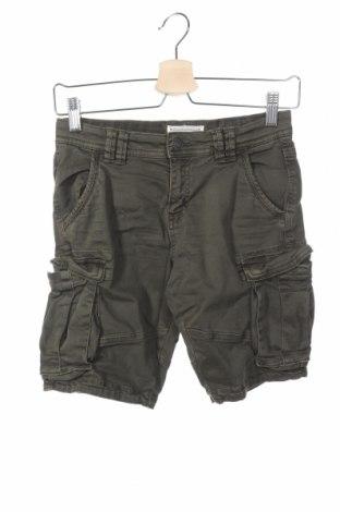 Pantaloni scurți de copii Review, Mărime 9-10y/ 140-146 cm, Culoare Verde, 97% bumbac, 3% elastan, Preț 60,63 Lei