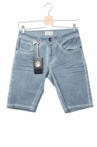 Pantaloni scurți de copii Review, Mărime 12-13y/ 158-164 cm, Culoare Albastru, 98% bumbac, 2% elastan, Preț 64,42 Lei