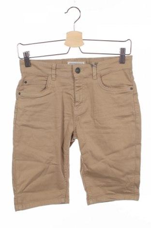 Pantaloni scurți de copii Review, Mărime 11-12y/ 152-158 cm, Culoare Bej, 97% bumbac, 3% elastan, Preț 64,42 Lei