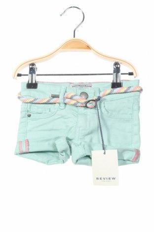 Pantaloni scurți de copii Review, Mărime 18-24m/ 86-98 cm, Culoare Verde, 97% bumbac, 3% elastan, Preț 64,42 Lei
