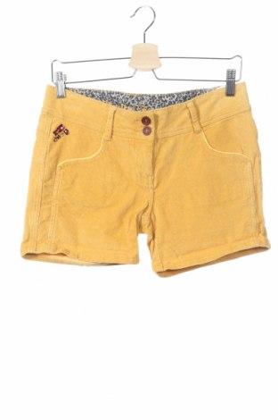 Pantaloni scurți de copii Review, Mărime 15-18y/ 170-176 cm, Culoare Galben, 98% bumbac, 2% elastan, Preț 60,63 Lei