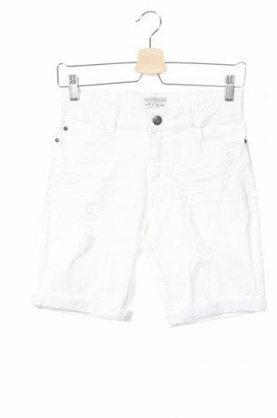 Pantaloni scurți de copii Review, Mărime 11-12y/ 152-158 cm, Culoare Alb, 83% bumbac, 15% viscoză, 2% elastan, Preț 60,63 Lei