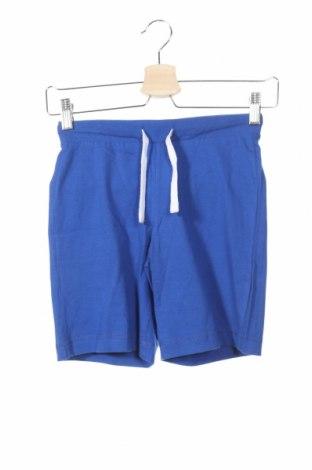 Pantaloni scurți de copii United Colors Of Benetton, Mărime 4-5y/ 110-116 cm, Culoare Albastru, 100% bumbac, Preț 72,00 Lei