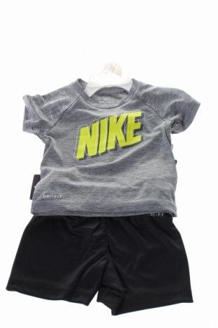 Dětský sportovní komplet  Nike, Rozměr 9-12m/ 74-80 cm, Barva Šedá, Polyester, Cena  916,00Kč