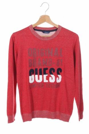 Dětský svetr  Guess, Rozměr 15-18y/ 170-176 cm, Barva Červená, 45% bavlna, 50% viskóza, 5% vlna, Cena  813,00Kč
