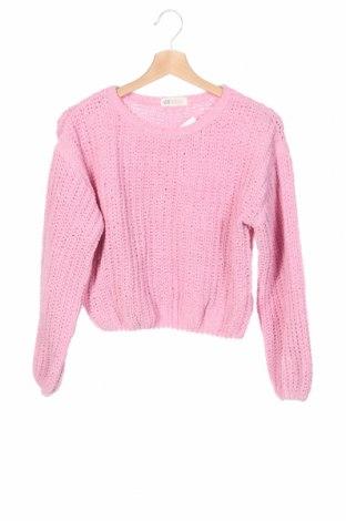 Детски пуловер H&M, Размер 10-11y/ 146-152 см, Цвят Розов, Полиестер, Цена 23,75лв.