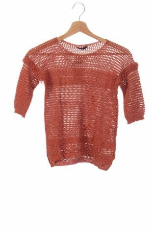 Dětský svetr  Sisley, Rozměr 7-8y/ 128-134 cm, Barva Oranžová, 50% bavlna, 50%acryl, Cena  496,00Kč