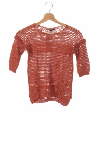 Детски пуловер Sisley, Размер 7-8y/ 128-134 см, Цвят Оранжев, 50% памук, 50% акрил, Цена 34,22лв.