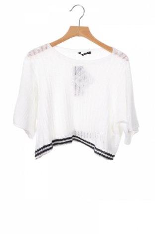 Dětský svetr  Sisley, Rozměr 7-8y/ 128-134 cm, Barva Bílá, 50% bavlna, 50%acryl, Cena  437,00Kč