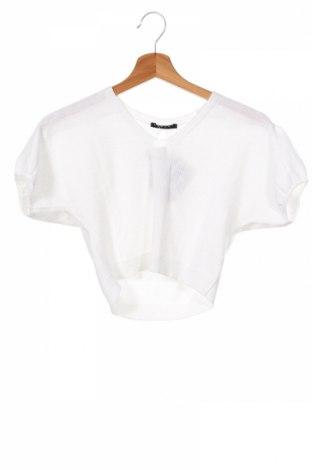 Dětský svetr  Sisley, Rozměr 6-7y/ 122-128 cm, Barva Bílá, 50% bavlna, 50%acryl, Cena  512,00Kč