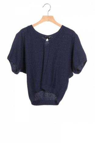 Детски пуловер Sisley, Размер 10-11y/ 146-152 см, Цвят Син, 50% памук, 50% акрил, Цена 32,48лв.