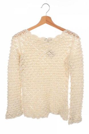 Детски пуловер Twin-Set, Размер 14-15y/ 168-170 см, Цвят Екрю, 66% акрил, 12% вълна, 12% вълна от алпака, 10% полиестер, Цена 8,29лв.