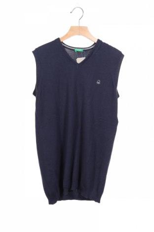 Детски пуловер United Colors Of Benetton, Размер 13-14y/ 164-168 см, Цвят Син, Памук, Цена 28,42лв.