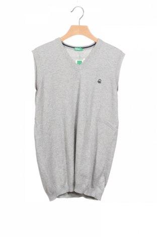 Детски пуловер United Colors Of Benetton, Размер 13-14y/ 164-168 см, Цвят Сив, Памук, Цена 28,42лв.