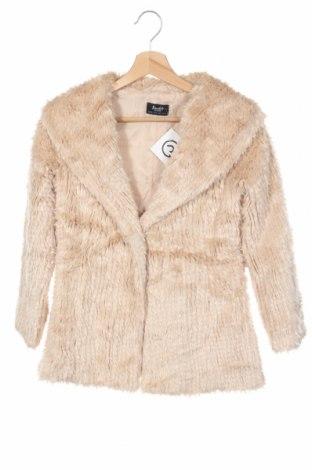Детско палто Bardot, Размер 10-11y/ 146-152 см, Цвят Бежов, 80% акрил, 20% полиестер, Цена 50,23лв.