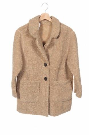 Детско палто Zara Kids, Размер 10-11y/ 146-152 см, Цвят Кафяв, Полиестер, Цена 34,40лв.