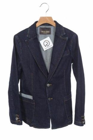 Παιδικό σακάκι Trussardi, Μέγεθος 10-11y/ 146-152 εκ., Χρώμα Μπλέ, 98% βαμβάκι, 2% ελαστάνη, Τιμή 30,67€
