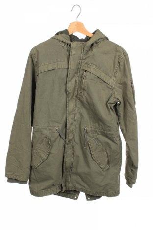 Детско яке Pepe Jeans, Размер 15-18y/ 170-176 см, Цвят Зелен, Памук, Цена 87,45лв.