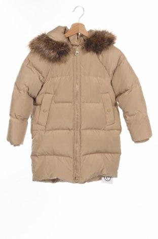 Детско яке Zara, Размер 7-8y/ 128-134 см, Цвят Бежов, 50% памук, 50% полиестер, пух и пера, Цена 49,00лв.