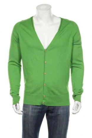 Мъжка жилетка Diesel, Размер L, Цвят Зелен, 80% памук, 20% вълна, Цена 47,88лв.