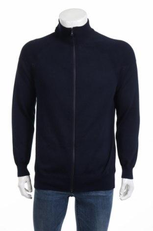 Jachetă tricotată de bărbați Marciano, Mărime XL, Culoare Albastru, Poliester, Preț 182,50 Lei