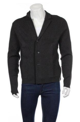 Jachetă tricotată de bărbați McNeal, Mărime L, Culoare Negru, 47% bumbac, 30% poliester, 23% poliamidă, Preț 151,76 Lei