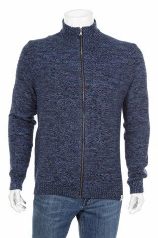 Jachetă tricotată de bărbați McNeal, Mărime L, Culoare Albastru, Bumbac, Preț 151,76 Lei