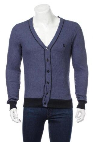 Jachetă tricotată de bărbați Refresh, Mărime M, Culoare Albastru, Bumbac, Preț 108,63 Lei