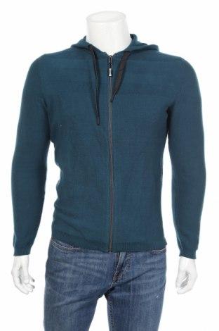 Jachetă tricotată de bărbați Tom Tailor, Mărime M, Culoare Albastru, Bumbac, Preț 132,55 Lei