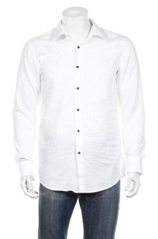 Ανδρικό πουκάμισο Boss, Μέγεθος L, Χρώμα Λευκό, Βαμβάκι, Τιμή 81,96€