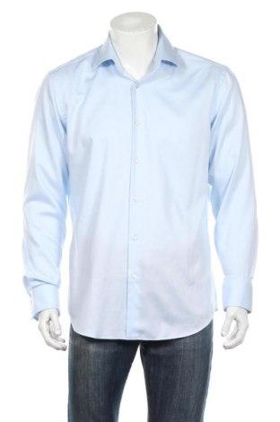 Ανδρικό πουκάμισο Boss, Μέγεθος L, Χρώμα Μπλέ, Βαμβάκι, Τιμή 81,96€