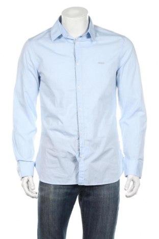 Ανδρικό πουκάμισο Guess, Μέγεθος L, Χρώμα Μπλέ, 98% βαμβάκι, 2% ελαστάνη, Τιμή 45,88€