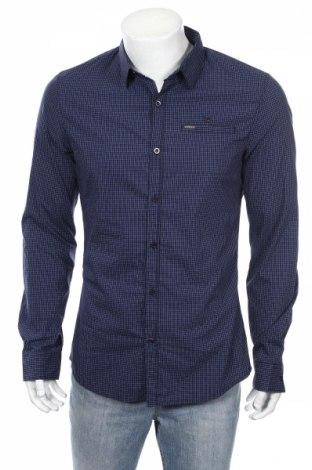 Мъжка риза Guess, Размер L, Цвят Син, Цена 74,12лв.